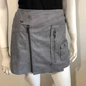 Free people for Ladakh faux suede wrap skirt sz 4